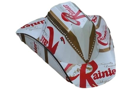 Officially Licensed Rainier Beer Cowboy Style Beer Hat at Amazon ... 8b5f2f1e5e9