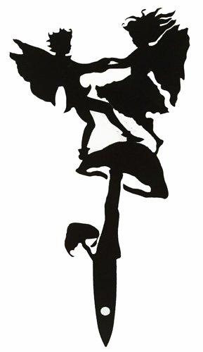 Toadstool Fairy - Metal Flower Pot Garden Stake - Large Fiddlestix