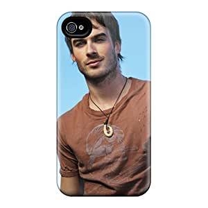 DustinFrench Iphone 6 Excellent Hard Phone Covers Unique Design Vivid Ian Somerhalder Pattern [iAG8337SIRB]