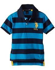 U.S. POLO ASSN. Little Boys' Yarn Dyed Striped Polo Shirt