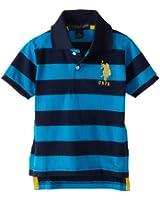 Little Boys' Yarn Dyed Striped Polo Shirt
