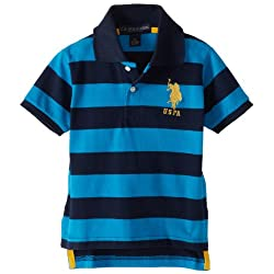 Little Boys' Yarn Dyed Striped Polo Shirt