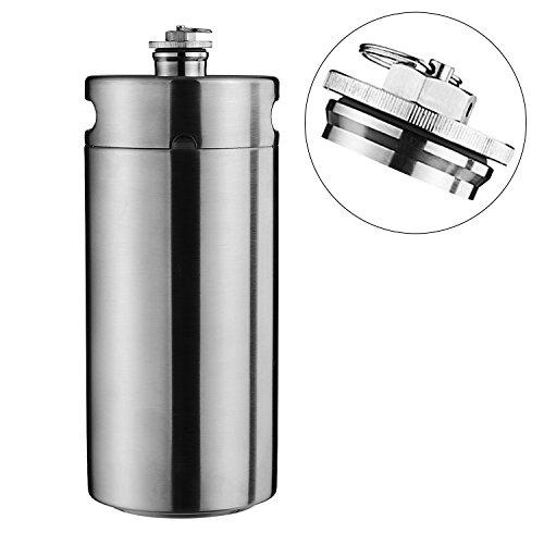 Cool Bnak Stainless Steel Mini Beer Keg Growler 2 gallon