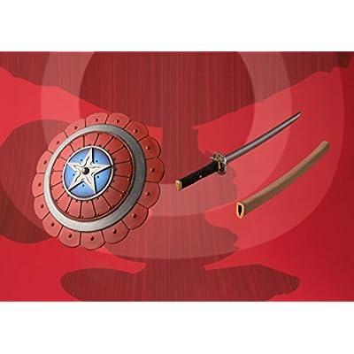 BLUEFIN Bandai Tamashii Nations Meisho Manga Realization Samurai Captain America Action Figure: Bandai Tamashii Nations: Toys & Games