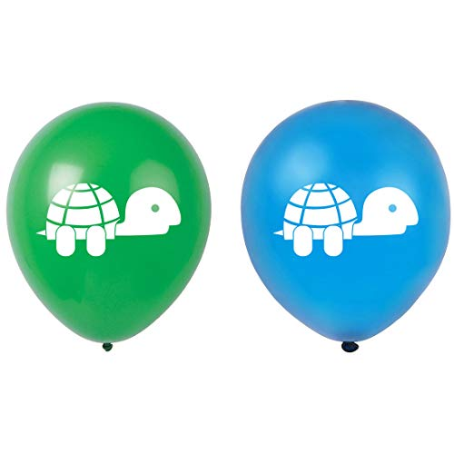 Turtle Latex Balloons, 16-Pack 12inch Turtles Birthday Party
