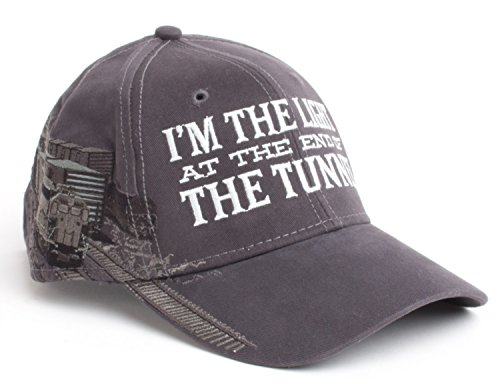 I'm the Light at end of the Tunnel | Funny Railroad Hat Train Humor Baseball Cap (Funny Caps)