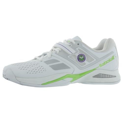 Babolat Propulse Bpm All Court Wimbledon Men's Tennis Shoes (White/Green) (8.5 D(M) US)