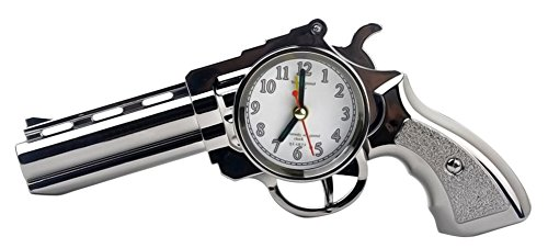 C-Pioneer Novelty Pistol Gun Shape Alarm Clock Desk Table Ho