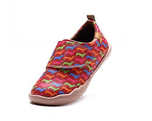 UIN Dachsbund Chaussures de cuir casual rouge pour enfant (petit enfant)