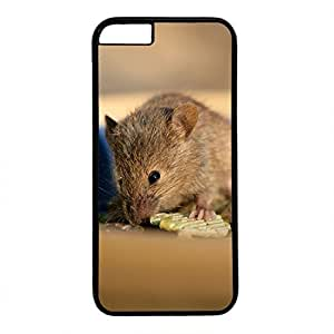 Hard Back Cover Case for iphone 6,Cool Fashion Black PC Shell Skin for iphone 6 with Funny Mouse