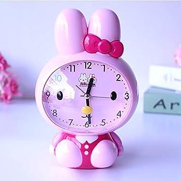 LTOOD Niños y niñas Especiales Lindos Relojes para el hogar Reloj Despertador para niños Dibujos Animados