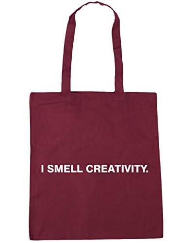HippoWarehouse I olor creatividad Tote Compras Bolsa de playa 42cm x38cm, 10litros granate