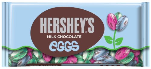 HERSHEY'S EGGS Chocolates, Creamy Solid Milk Chocolate Candy Individually Wrapped in Easter Packaging, 10 Ounce Bag (Pack of 4)