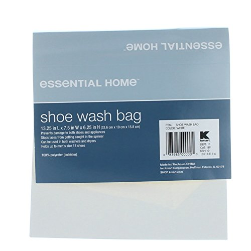 Essential home white mesh sneaker shoe laundry washer bag for Essential appliances for a new home