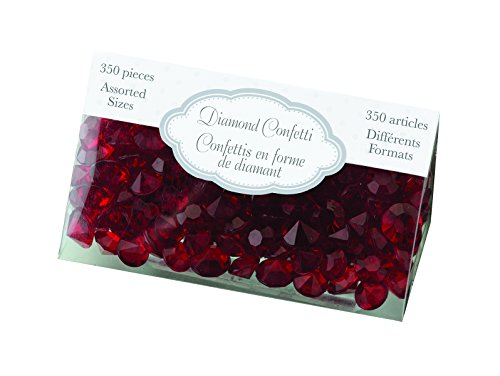 Lillian Rose Party Decor Crystal Diamond Table Confetti Red by Lillian Rose