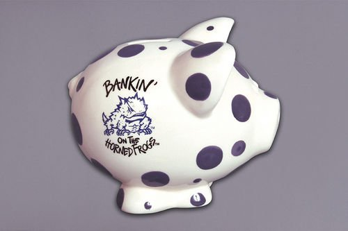 (Ceramic Collegiate Piggy Bank (TCU Horned Frogs))