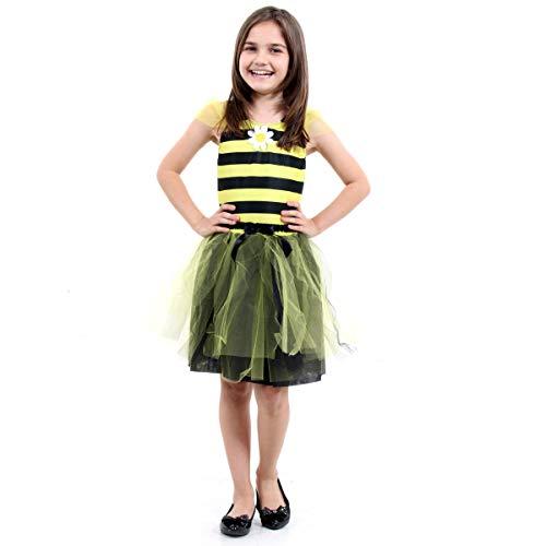 Fantasia Abelha Dress Up Infantil Sulamericana Fantasias Preto/Amarelo M 6/8 Anos