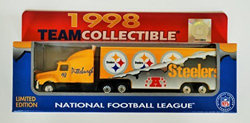 Pittsburgh Steelers NFL Diecast 1998 Matchbox Tractor Trailer Football Team Truck White Rose Collectible Car