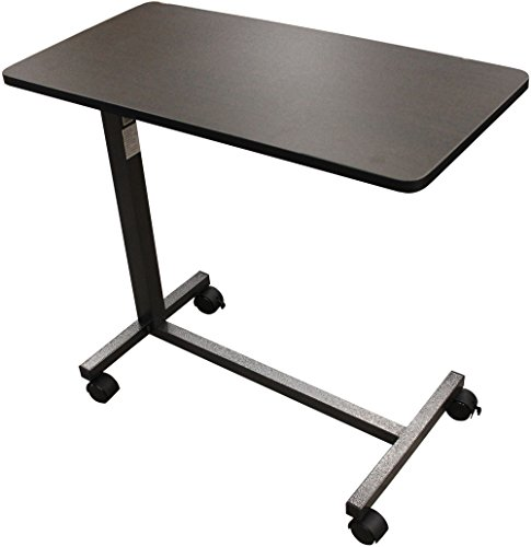 Drive Medical Non Tilt Top Overbed Table, Silver Vein ()