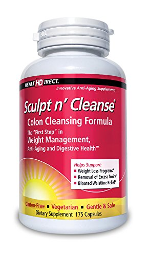 Sculpt n' Cleanse Colon Cleansing Supplement (450 mg, 175 Veggie Capsules) from Health Direct