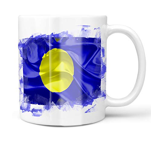 Neonblond 11oz Coffee Mug Palau 3D Flag with your Custom Name