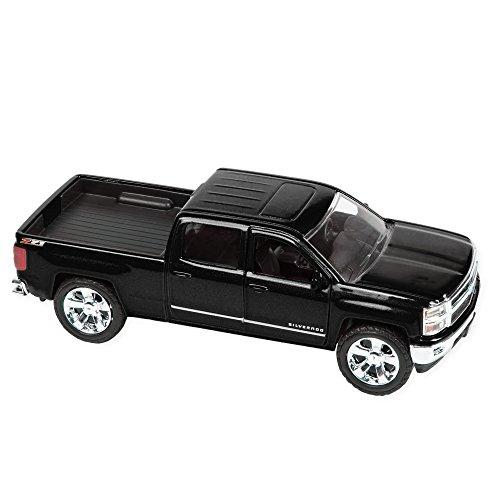 2014 Chevy Silverado 1500 Pickup 5.25 Inch Die Cast Replica Toy, Black