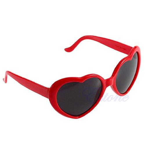 Hukai Vintage Retro 10 Color Men Women New Fashion Lolita Heart Shaped Love Sunglasses - Lolita Shaped Heart Glasses