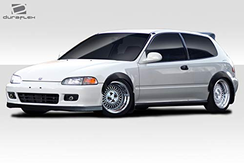 Duraflex Replacement for 1992-1995 Honda Civic 2dr / HB J Spec Fender Flares - 4 ()