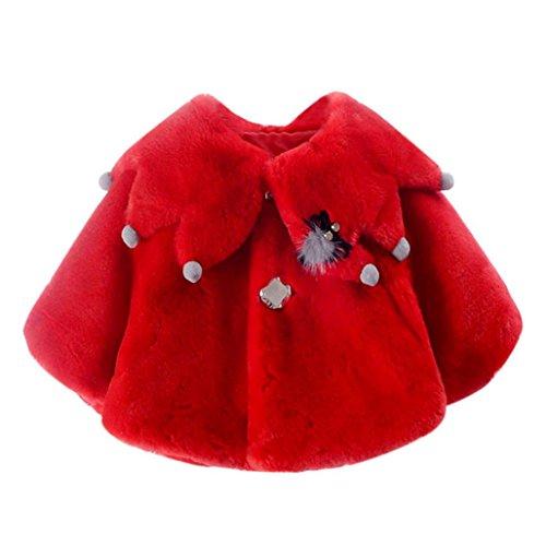 Omiky® Baby-Säuglings-Trauben Herbst-Winter-Mantel-Mantel-Jacke-starke warme Kleidung Rot