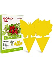 Yellow Sticky Traps,Dual-Sided Sticky Fruit Fly Traps and Gnat Traps Sticky Bug Traps Houseplant Sticky Insect Trap