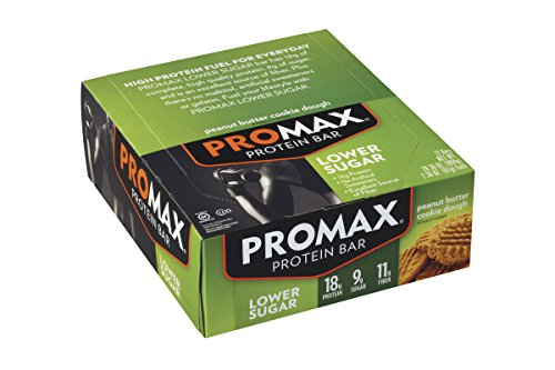 Promax LS Lower Sugar Protein Bar, Peanut Butter Cookie Dough,  (Pack of 12)