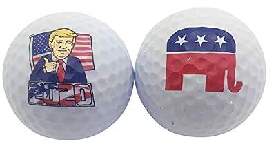 Donald Trump GOP Republican Novelty Golf Balls, Set of 2