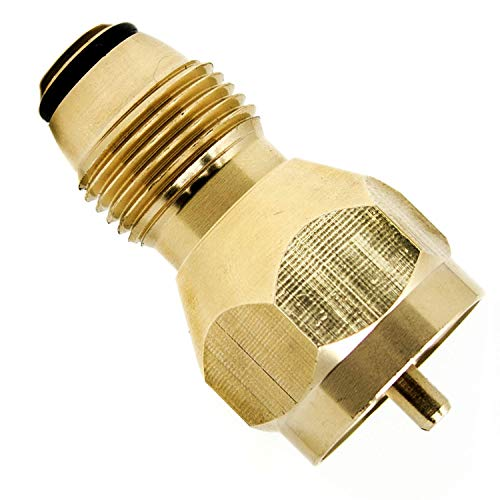 GasOne - Propane Refill Adapter POL Type for Steel Propane Cylinder with Type 1 - Fits All 1 LB Throwaway Disposable Cylinder - 100% Solid Brass Regulator Valve Accessory