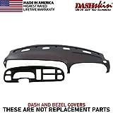 DashSkin Molded Dash & Bezel Cover Kit Compatible with 99-01 Dodge Ram in Agate (Dark Grey)