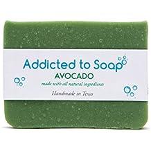 Addicted to Soap – Old Fashioned Natural Shampoo Bar 5 Ounces Eco-Friendly Solid Bar Shampoo for Men & Women Organic Coconut Oil Sulfate Free Leaves Hair Shiney Soft (Avocado Shampoo Bar)