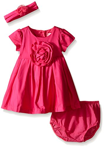Big Kids Watermelon Apparel - The Children's Place Baby-Girls Big Flower Dress, Watermelon, 6-9 Months