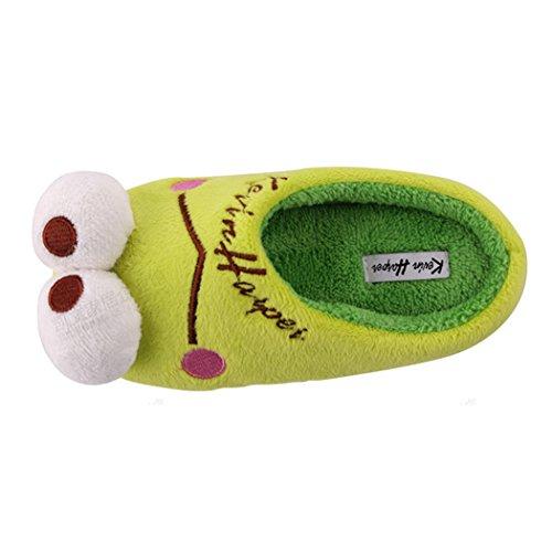 MOAOAO Womens Green Winter Warm Cozy Slipper hBQs5