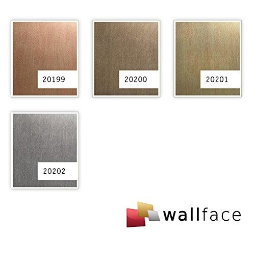 Panel de pared aspecto metal WallFace 20199 SLIGHTLY USED Copper AR liso Revestimiento mural used look cepillado autoadhesivo resistente a la abrasión cobre ...