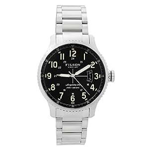 Filson men 39 s shinola mackinaw argonite field stainless steel watch 11000302 watches for Argonite watches