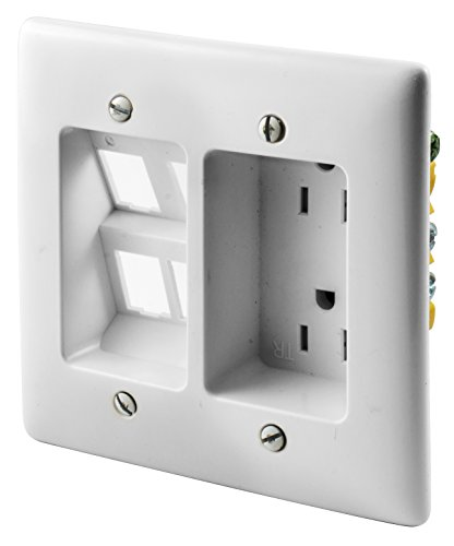 Bryant Electric Rr1514w 2 Gang Recessed Tv Connection