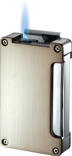 Visol Zidane Satin Nickel and Chrome Cigar Lighter with Built-in Cigar Punch by Visol (Image #1)