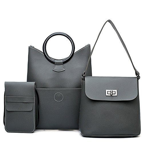 Gray Brief Single Black Three Set Gwqgz Bag Fashion Retro Fashion Shoulder Bag piece OXwYHw67q