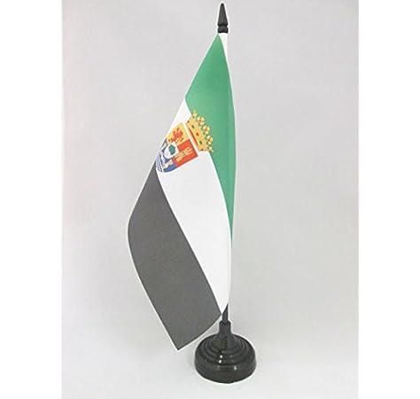 AZ FLAG Bandera de Mesa de Extremadura 21x14cm - BANDERINA de ...