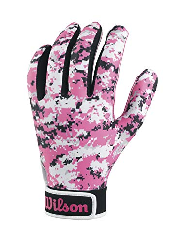 Wilson Adult Special Forces Receivers Gloves, Pink