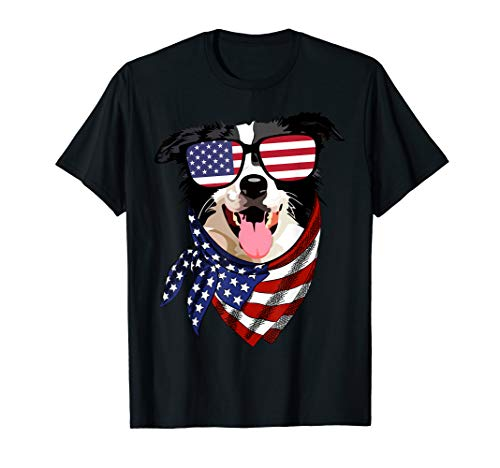 - Border Collie 4th Of July Patriotic American Flag Sunglasses