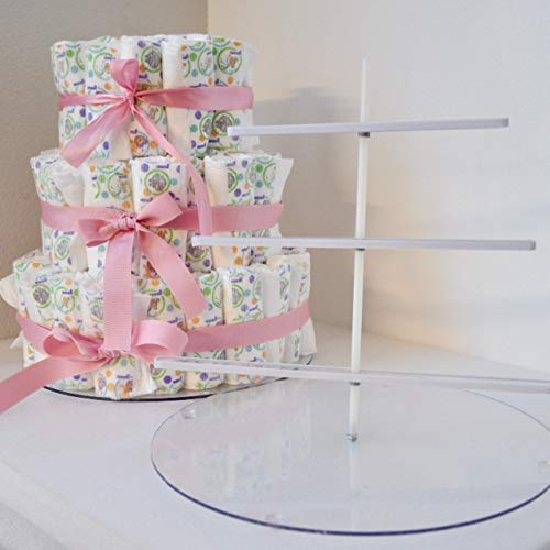 EZ Diaper Cake - Baby Shower Diaper Cake Birthday Cake Kit from EZ Diaper Cake