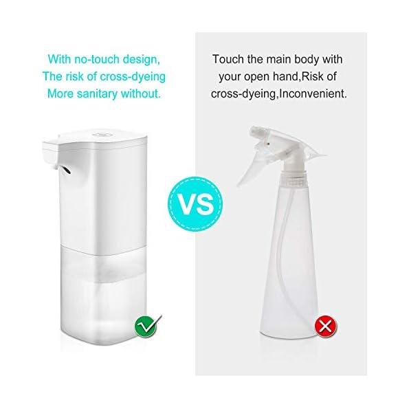 Yocktec-Desinfektionsspender-Automatische-Sensor-Automatisk-Sprhspender-mit-Sensor-Elektrischer-seifenspender-automatisch-fr-Kchen-und-Badezimmer-Waschraumffentlicher-Ort-380ml-klar-Flasche-Wei