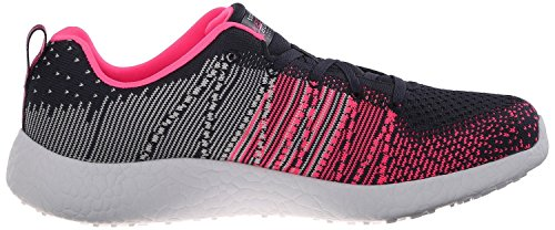 Skechers Burst Ellipse Charcoal Rose Chaussures Femme Baskets
