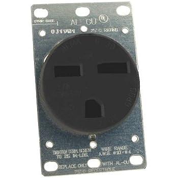 Leviton 931 30 50 Amp 250 Volt Plug Angle Grounding Black