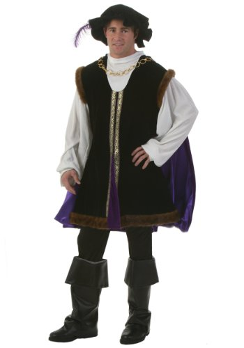 Forum Novelties Men's Designer Collection Noble Lord Halloween Costume, Black, X-Large (Renaissance Halloween Costume)